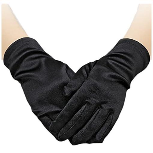 Flora-Satin-Flower-Girl-BridesmaidChild-Short-Fingered-Glove-ChristeningHoly-Communion-Wrist-Length