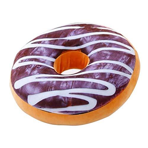 Tomy Lambert Donut Kissen Kissen Donut Hit Sitzkissen 3D-süßes Donut Brot Weicher Überwurf Kissenbezug Home Decor ohne Kern Style_b