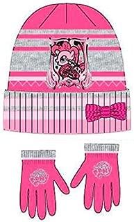 Filles MLP Mon Petit Poney Twilight Sparkle et Rainbow Dash Badge Bonnet et gants dhiver 2 pi/èces
