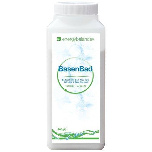 BasenBad - Basisches Badesalz mit Q10, Aloe Vera, Spirulina & Rosa Mayosalz - pH-Wert - Säure-Basen-Haushalt - Vegan - GVO-frei - Ohne Zusatzstoffe - 800g