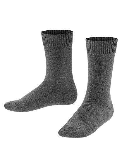FALKE Kinder Socken Comfort Wool - Merinowoll-/Baumwollmischung, 1 Paar, Grau (Dark Grey 3070), 23-26