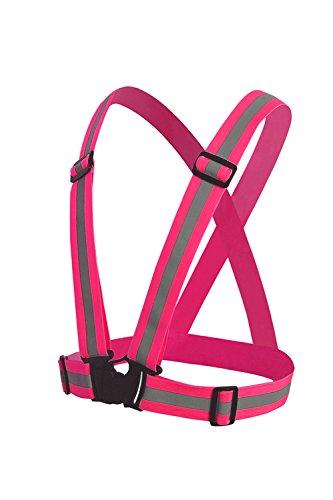 (AFROMARKET) 安全ベスト 反射ベスト 交通警備 夜間 警備 誘導 ガードマン 工場 工事現場用 調節可能 pink ピンク