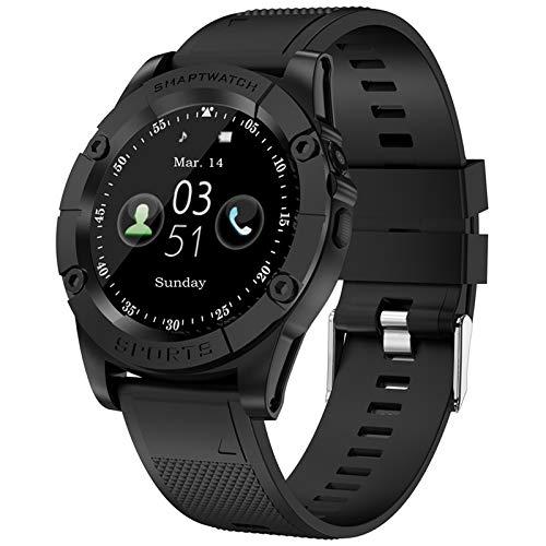 SW98 Smartwatch Männer Unterstützung SIM-Karte Pedometer Kamera Bluetooth Smartwatch Für Android Phone APK DZ09 Y1 A1 Armbanduhr,Schwarz