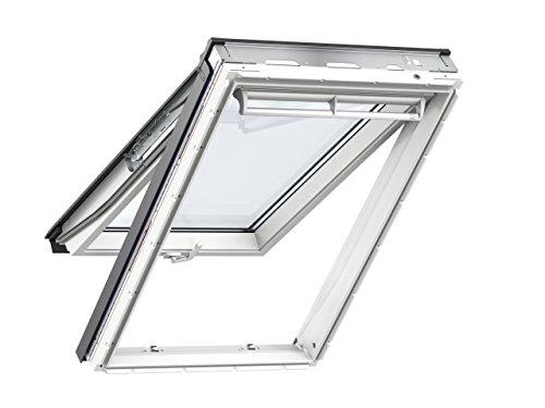 Velux GPU (0050) Klapp-Schwingfenster aus Kunststoff (114 x 118) mit Eindeckrahmen