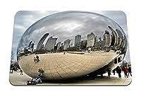 26cmx21cm マウスパッド (ミラー人々都市観光客反射シカゴ) パターンカスタムの マウスパッド