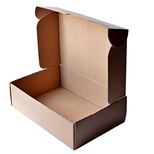Pack 25 Cajas Carton Automontables para Ecommerce Color Marron Kraft I 25,5cm x 18 cm x 7,5 cm I...