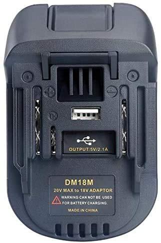 Adaptador de batería Ecarke para DCB 18V / 20V Max Convertir a herramientas eléctricas Makita 18V LXT.