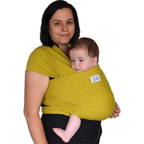 Crianza Natural - Fular elástico ligero, mostaza