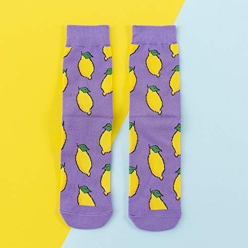 Bunte Frauen Socken Frau Baumwollsocken Früchte Banane Avocado Zitrone Ei Keks Donuts Essen Happy Color Sox Harajuku Socken - C5