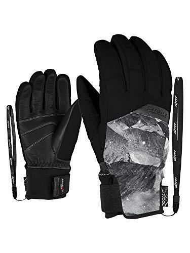 Ziener Damen KOMI AS(R) AW lady glove Ski-handschuhe/Wintersport | Wasserdicht, Atmungsaktiv, Grey Mountain Print, 8 (L)