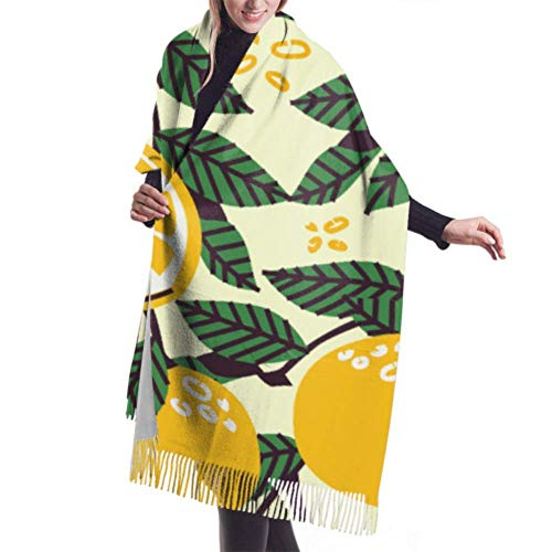 Jingliwang Schals Wickelschal Womens Winter Scarf Cashmere Feel Blue Flowers Mountains Scarves Stylish Shawl Wraps Soft Warm Blanket Scarves For Women