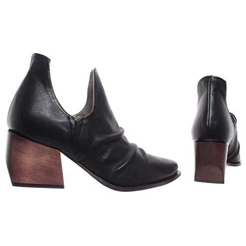 IXOS Damen Schuhe Cardo Nero Schwarz Leder Made In Italy Neu