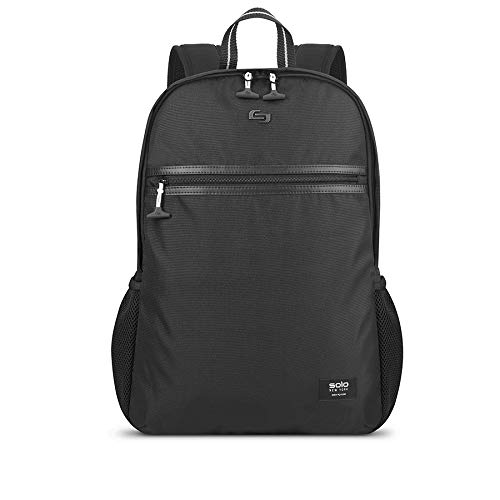 SOLO New York Varsity Line Backpack for Women and Men. Fits 15.6-inch Laptop and Notebook Perfect for Travel, School and College –Black
