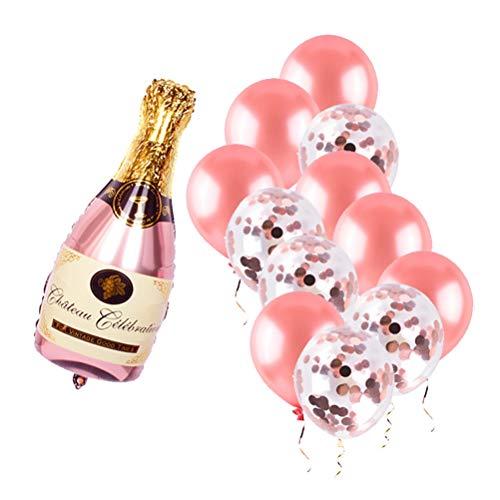 Juego de globos de botella de champán, para el día de San Valentín, para la novia o el día de San Valentín, reutilizables, decoración