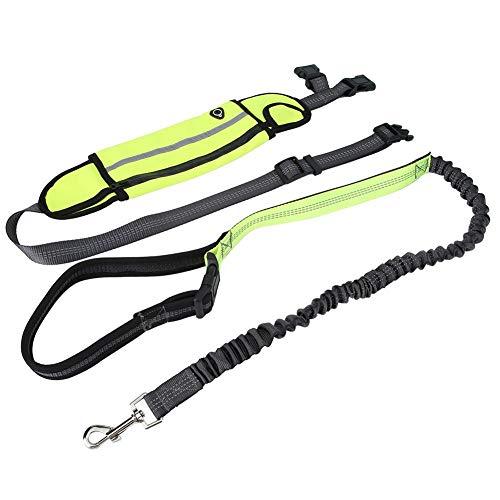 Pssopp Joggingleine Hunde Joggingleine mit Bauchgurt Verstellbare Freihandleine Jogging Hundeleine für Hunde Laufen Fahrrad