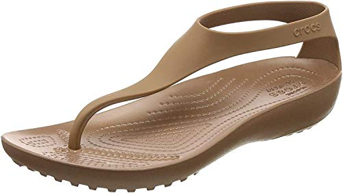 Crocs Sexi Flip Women, Sandalias para Mujer, Marrón (Bronze/Bronze 860), 39/40 EU