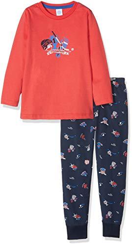 Sanetta Jungen Pyjama Long Zweiteiliger Schlafanzug, Rot (True Red 38057.0), 104