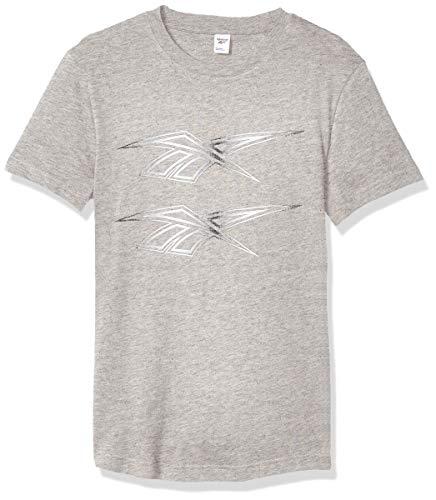 Reebok Klassisches Doppel-T-Shirt, Unisex-Erwachsene, kurzärmelig, Classic Double Vector Tee, Medium Grau meliert, X-Small