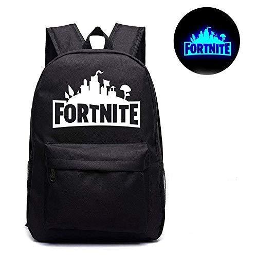 Fort Battle Royale Backpack, Luminous Logo Kids School Bag Black,Gaming