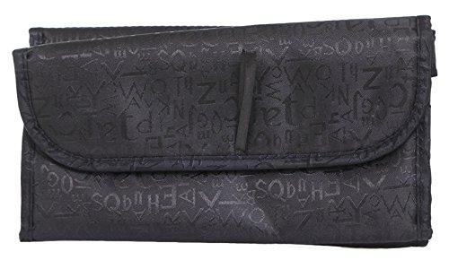 La Vogue Portable Pliable Trousse De Toilette Sac à Soufflets Rangement Maquillage Voyage Bag Noir