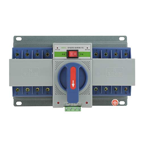 220V 63A 4P Automatischer Übertragungsschalter Transferschalter Mini Dual Elektronischer Leistungsschalter