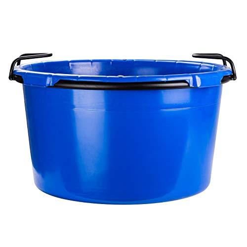 Baukübel Mörtelkübel Zementkübel Mörtelwanne Zementwanne rund blau 90 L kranbar