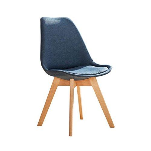 ZJ Silla de escritorio estable, creatividad, silla de ordenador para el hogar, moderna y sencilla, con respaldo de arte, silla de comedor única (color: D)