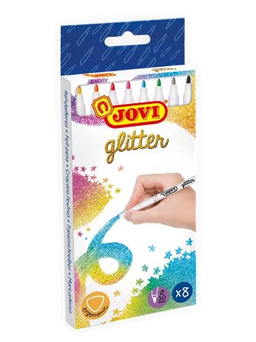 Jovi- Estuche 8 rotuladores Purpurina Glitter, Multicolor (1608G) , color/modelo surtido