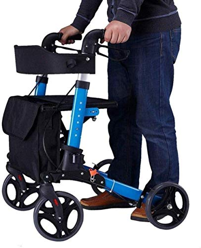 Standaard Walkers Walking Aid wandelstok Rollator Walker 4 Wheel Rolling Walker Met Stoel & Tas - Walker Winkelwagen - Mobility Aid For Adult, Senior, Elderly Walking Frames