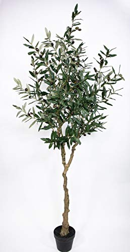 Olivenbaum 180cm im Topf ZF Kunstbaum Kunstpflanzen künstlicher Baum Dekobaum Olive
