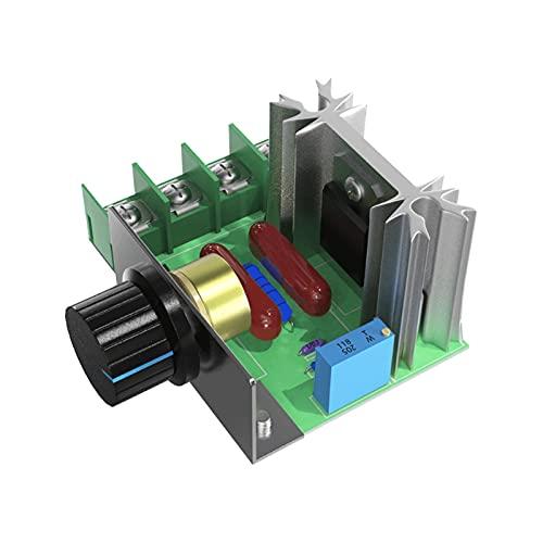 ZRYYD UBARO 2000W SCR-Spannungsregler Motordrehzahl-Controller Dimmen Dimmers Thermostat Elektronisches Spannungsregler DIY-Modul (Color : UB TG01)