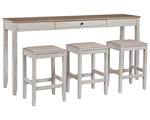Signature Design by Ashley Skempton Table, White/Light Brown