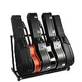 Supporto per 5/7 chitarre e Bassi,Stand per chitarra Supporto Multiplo per 5 Strumenti Elettrici (per 5)