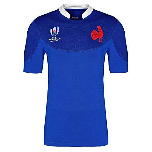 Aitry WM Frankreich Heimtrikot Trikot T-Shirt Kurzarm Baumwolle Herren und Damen Erwachsene