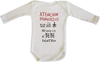 MI Body Bebe Frase : ATENCION PRIMERIZOS, NO Lavar con EL BEBÉ Dentro Regalo Bebe Regalo Recien Nacido Regalo Padres PRIMERIZOS