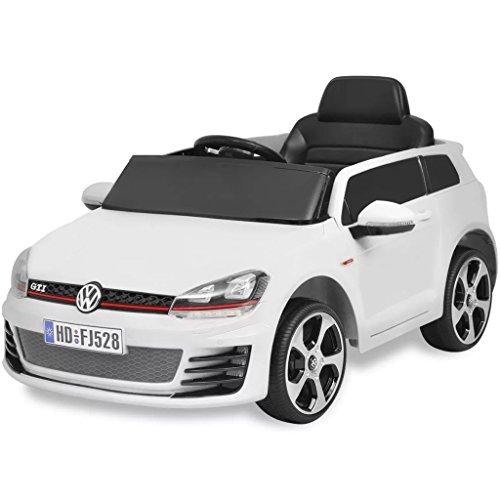 SENLUOWX Kinderauto Elektroauto VW Golf GTI 7 Weiß 12 V Kinderfahrzeug Kinderauto mit Fernbedienung*