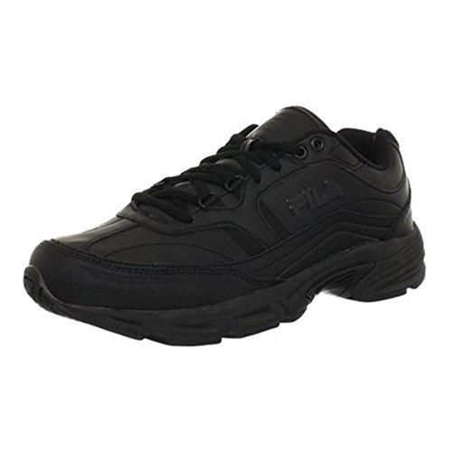 Fila Men's, Memory Workshift Slip Resistant Composite Toe Shoe - Wide Width Black 8 W