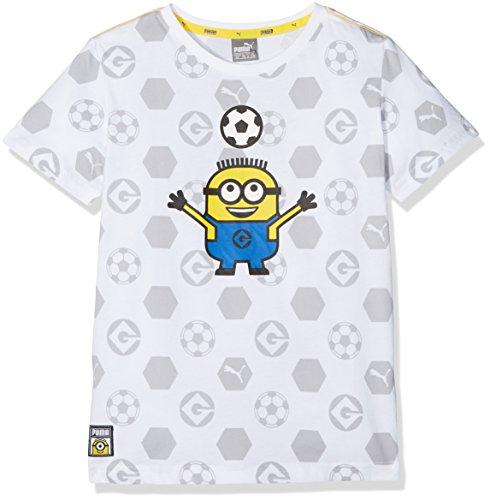 Puma Camiseta de Minions, para niños, Infantil, Minions tee, Puma White, 164