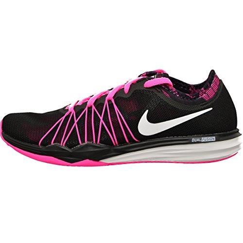 Nike W Dual Fusion TR Hit PRNT, Scarpe da Ginnastica Donna, Nero (Black (Nero/Bianco-Rosa Esplosione), 36 EU