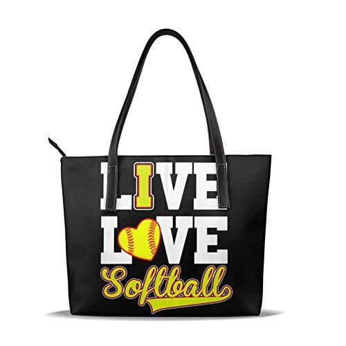 Borsa a tracolla stampata da donna Softball giallo