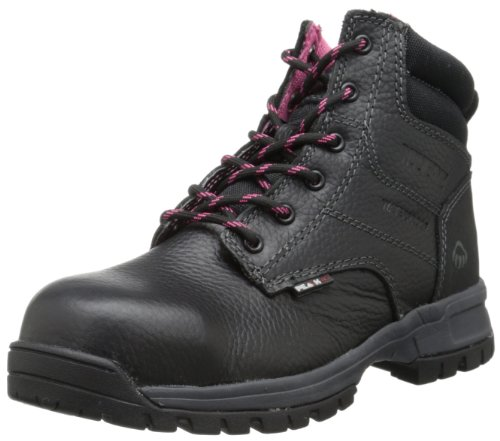 WOLVERINE Women's Piper Comp Safety Toe Boot-W, Black, 8 Wide