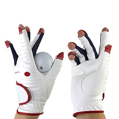 GYN Frauen Golf Handschuhe,1 Paar Damen Golfhandschuh Aus Hochwertigem PU Leder,rutschfest Verschleißfeste Atmungsaktive Weich Outdoor-aktivitäten Golfhandschuh,21#