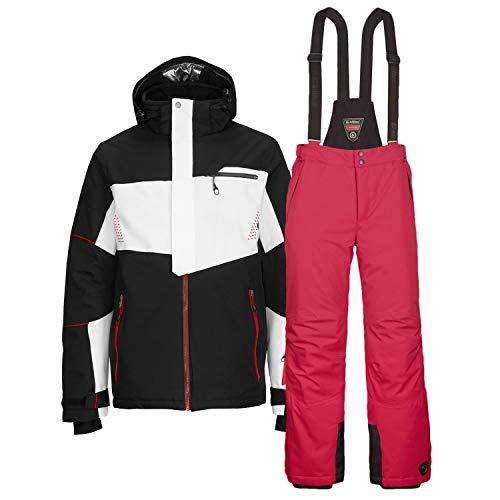 Killtec Skianzug Herren Gr. XXL - 2 TLG. Skijacke Janu schwarz/weiß/rot + Skihose Enosh rot
