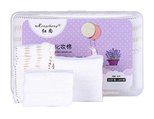 Coussinets en coton en boîte de rangement pour maquillage 560PCS