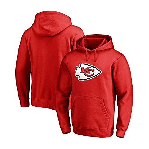 NFLSWER Männer 3D Hoodies KC Kansas City Chiefs NFL Football Team Uniform Muster Digital Printing Cardigan Liebhaber Pullover Jersey (Farbe : Red, Size : M)