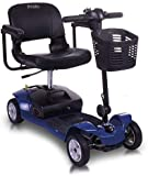 CHAIR Wheelchair, Medical Rehab Chair for Seniors,Old People,Pride Mobility Apex Lite Mobility Scooter 4Mph Compact Travel Power Scooter 4 Wheel Scooter Mobility Scooter for Adults (Blue),Blue