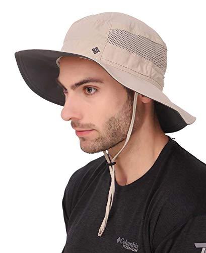 Columbia Unisex Bora Bora II Booney Hat, Moisture Wicking Fabric, UV Sun Protection , Fossil