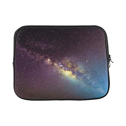 Design Custom Picture Milkyway Galaxy Processed by Stacking Sleeve Soft Laptop Case Bag Pouch Skin for Air 11'(2 Sides)