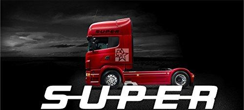 SCANIA No210 SUPER Windschutzscheibe ca. 80 cm Aufkleber LKW Truck Tuning Trucker Sticker Decal von MYROCKSHIRT