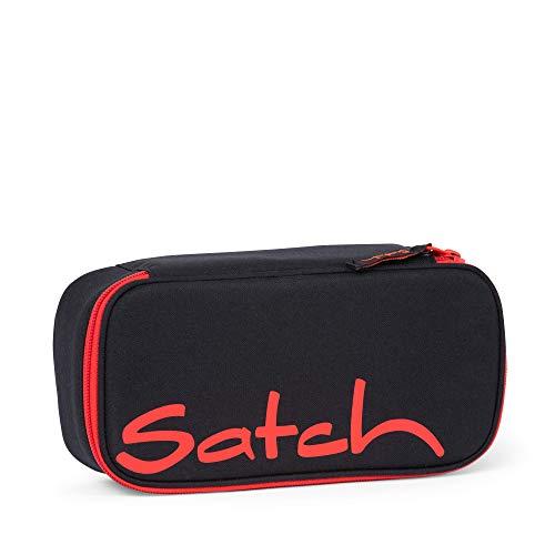Satch Schlamperbox Fire Phantom, Mäppchen mit extra viel Platz, Trennfach, Geodreieck, Schwarz